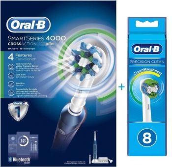 Oral-B PRO 4000n Smart - Elektrische Tandenborstel Blauw