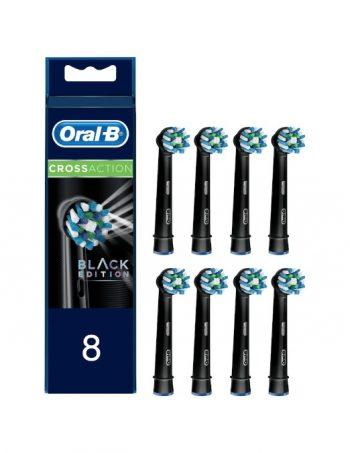Oral-B-Cross-Action-Zwart-Opzetborstels-8-stuks
