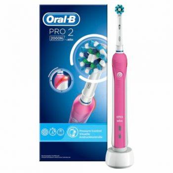 Oral-B PRO 2000N Pink - Elektrische Tandenborstel - Roze