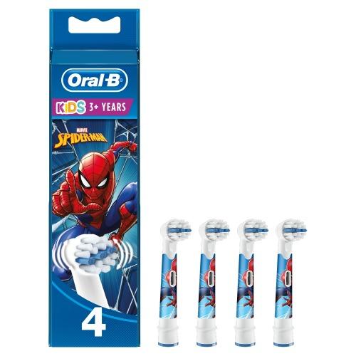 Oral-B Spiderman Opzetborstels 4 stuks - Multi kleuren