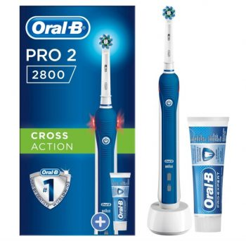 Oral-B PRO2 2800 CrossAction Elektrische Tandenborstel met Tandpasta