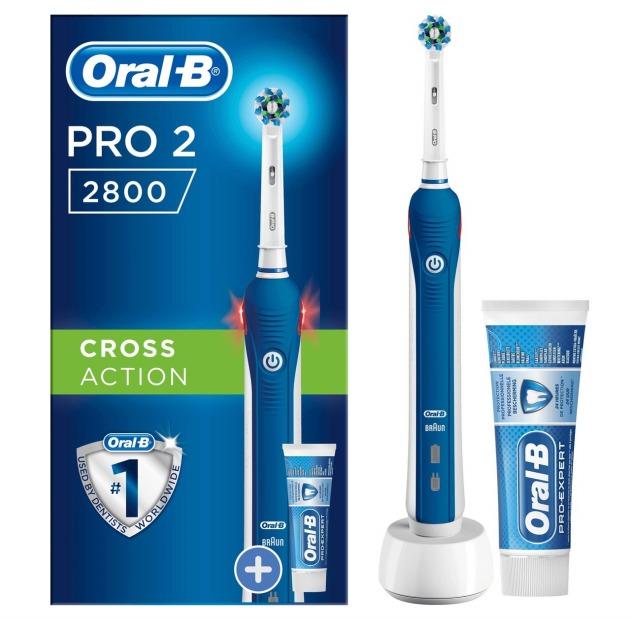 Oral-B PRO2 2800 CrossAction Elektrische Tandenborstel met Tandpasta