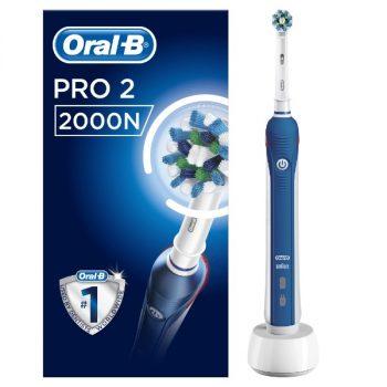 Oral-B Pro 2 2000N Cross Action - Elektrische Tandenborstel - Blauw
