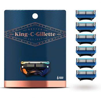 King Gillette Scheermesjes voor Mannen - 6 Navulmesjes