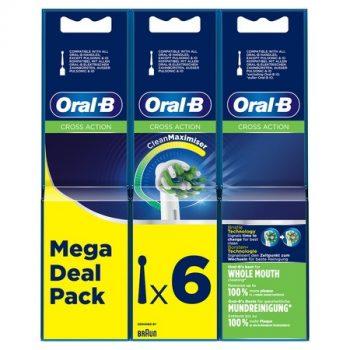 Oral-B Cross Action 6 Opzetborstels - Clean Maximiser