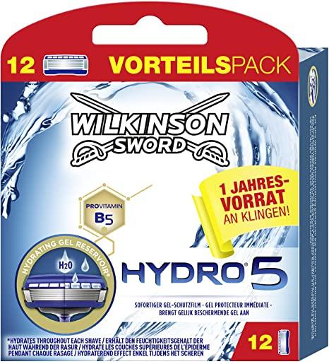 Wilkinson Hydro 5 Scheermesjes voor Mannen - 12 stuks