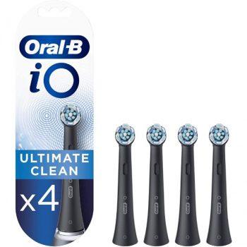 Oral-B iO UltimateClean Opzetborstels Zwart - 4 Stuks